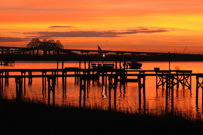 Hobcaw Point View of the Cooper River Bridges