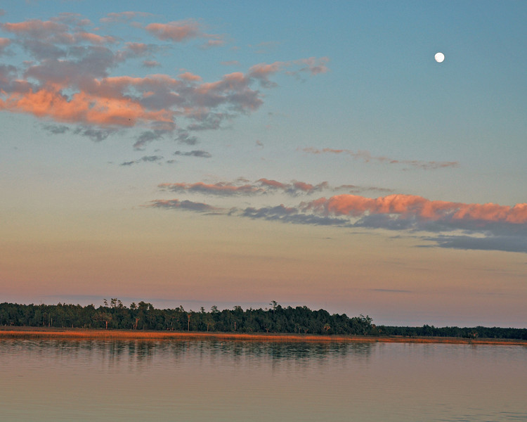 Beresford Creek Moonrise at Sunset
