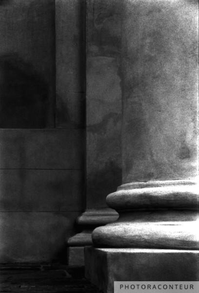 """""""St. Philips Columns No. 1, Charleston, SC"""" ~ St. Philips Episcopal Church columns in historic Charleston, SC."""