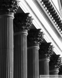 """Customs House Columns No. 1"" ~ U.S. Customs House in Charleston, SC.  Circa 1879."