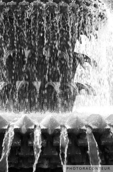 """Pineapple Fountain - Charleston, SC"" ~ B&W photo of the Pineapple Fountain in Waterfront Park (Charleston SC)."