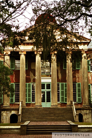 """Randolph Hall"" ~ Historic College of Charleston building, constructed 1826-1828.  The stairs in the foreground were a temporary installation used for filming the American Revolution epic ""The Patriot"" starring Mel Gibson."
