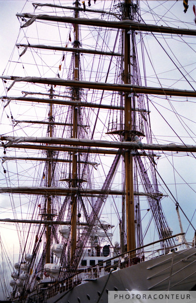 """Charleston Tall Ship"" ~ Historic tall ship docked in Charleston Harbor."