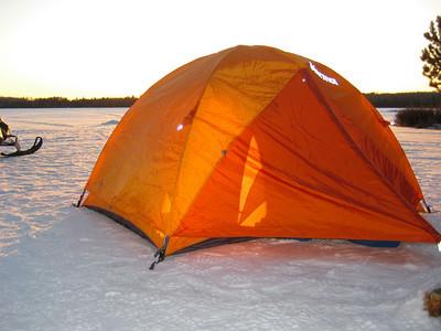 Sunset on the ice.
