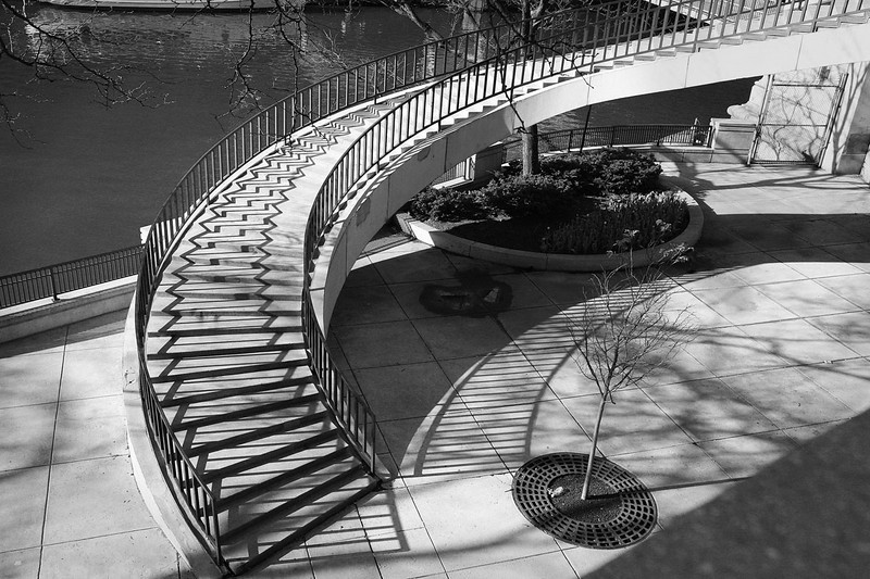 Staircase at Chicago River