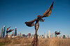 14 December 2009- Dessa Kirk's Daphne Garden sculptures on Northerly Island, Chicago.