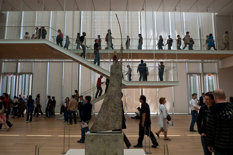 16 May 2009-  Opening day in the Griffin Court of the Modern Wing of the Art Institute of Chicago.