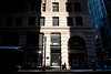 11 February 2010- A slice of sunlight illuminates part of the oldest section of the historic Marshall Field's department store building.
