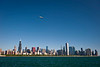 28 May 2010- President Barack Obama flies in Marine One over the Chicago skyline.