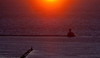 26 March 2010- Sunrise over the Chicago Harbor Lighthouse and Lake Michigan.