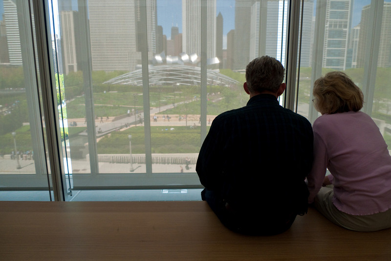 16 May 2009- The view of Millennium Park from the Modern Wing of the Art Institute of Chicago.