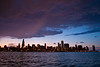 27 August 2009-  A late summer storm moves across the south loop at sunset.