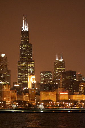 Sears/Willis Tower at night