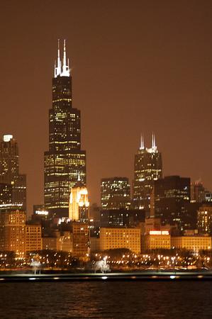 Sears/Willis Tower at night