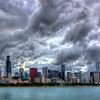 Skyline from the Adler Planetarium