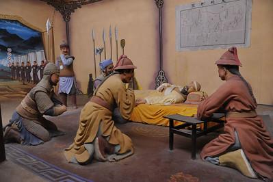 Genghis Khan deathbead tableau; Yinchuan, Ningxia