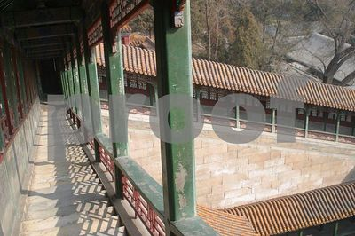 View of the stairs leading to the Foxiang Temple