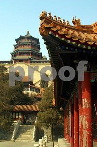 View of Foxiang Temple and eaves