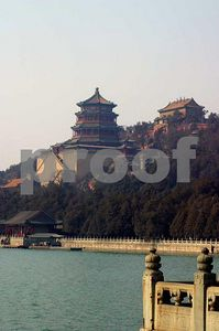 A view of the lake and Foxiang Temple