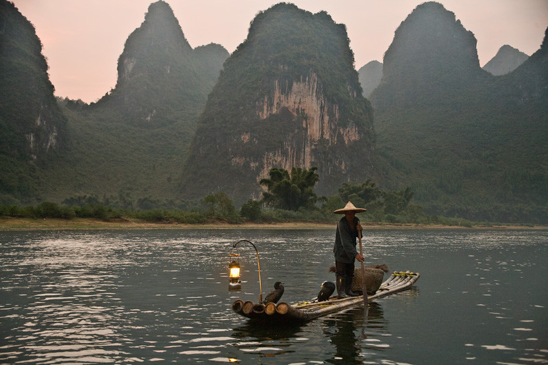 Traditional Fisherman on Lijiang - Yangshuo, China