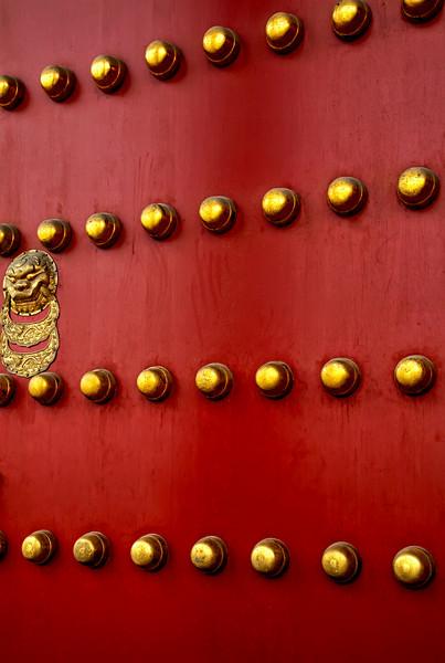 Entry door into the Forbidden City, Beijing, China