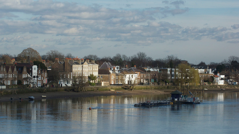 The Thames at Strand-on-the-Green in Chiswick, west London. March 2014.