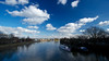 Clouds over the Thames at Strand-on-the-Green in Chiswick and Kew Pier.