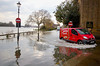 Floods of London Pride at Chiswick Mall. April 2013.