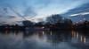 Autumn dusk at Kew Bridge.