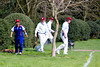 Lost ball found with a spot of international co-operation. The Authors XI v Japan at Chiswick House. April 2013.