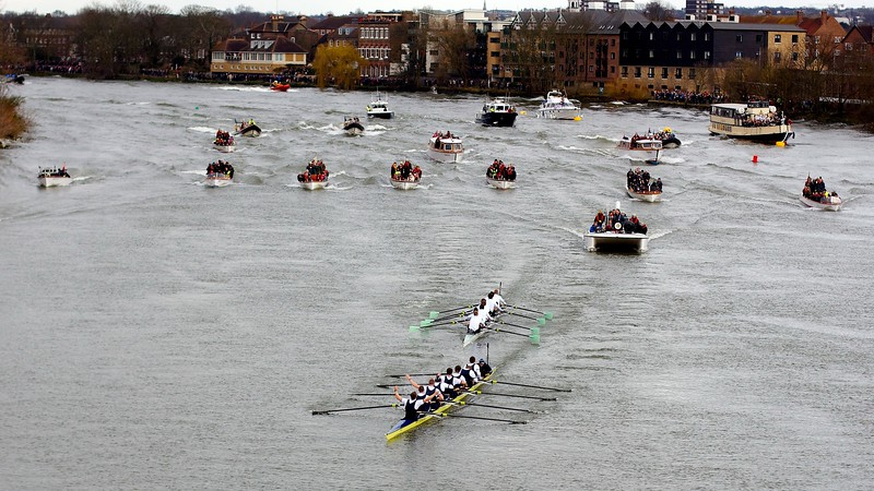 Oxford defeat Cambridge in the 2013 Boat Race.