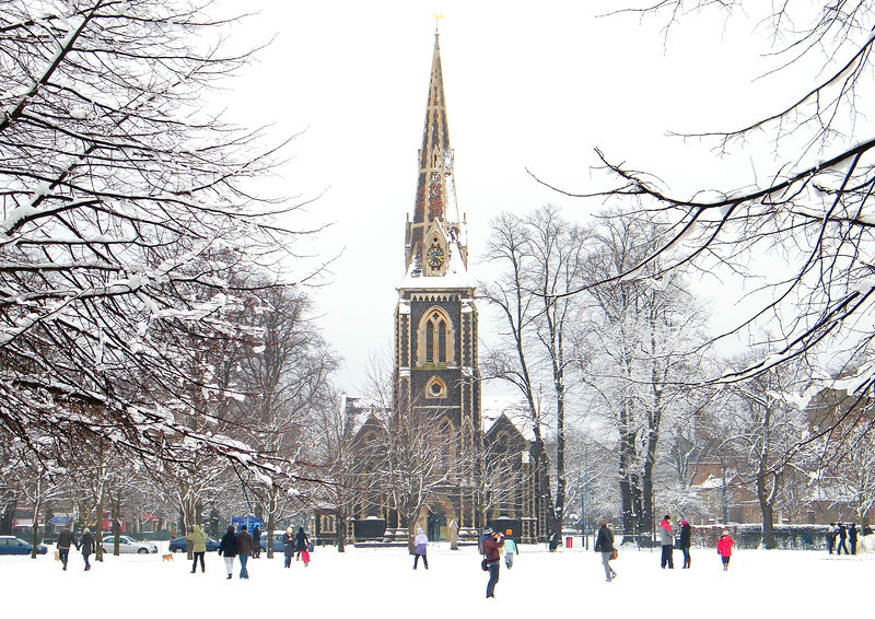 Snow on Turnham Green