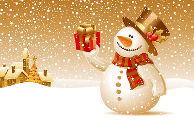 08-Snowman Backgrounds