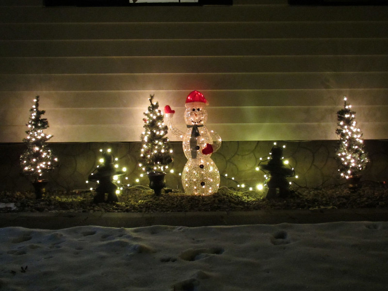 Front yard decorations.