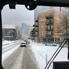 Snowy commute on the #56/Milwaukee Ave