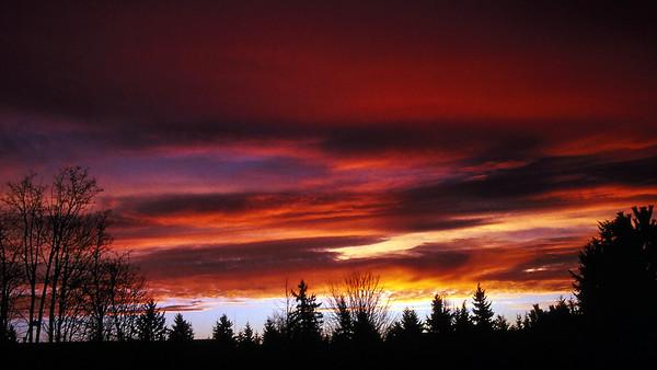 Sunset, December 1987
