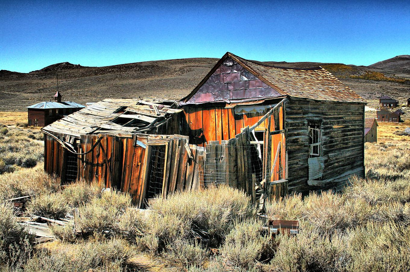An old abandoned residence in Bodie, California.