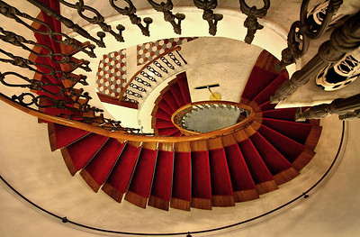 A staircase in the hotel where we stayed in Florence Italy.
