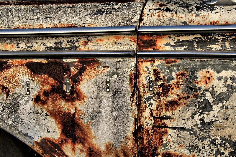 Rusted 1959 Edsel fender, Anderson, Texas 7-1-2011