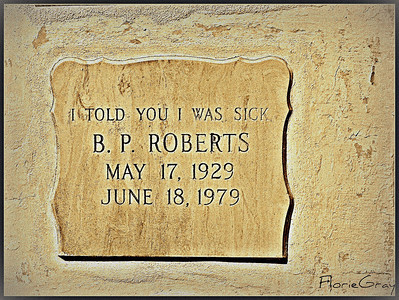 No one believed Miss Roberts when she complained yet again of feeling unwell.    Key West Cemetery