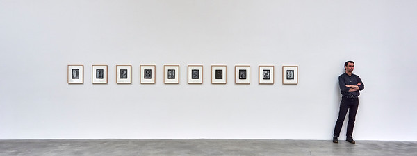 June 4, 2016- New York, New York : Jasper Johns at Mathew Marks Gallery  Chelsea, NY  Credit: Robert Altman