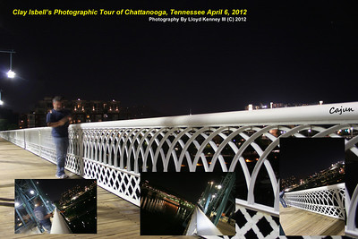 Photographer Clay Isbell from Chatmette, La. Photographing the Delta Queen berthed on Chattanooga's North shore of the Tennessee River. Chattanooga Night Photography By Lloyd Kenney III (C) 2012 All Rights Reserved.