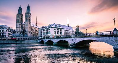Münsterbrücke Bridge, Zürich