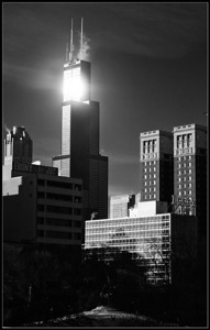 Sunlight on Sears Tower