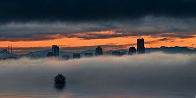 Ferry Approaching Seattle