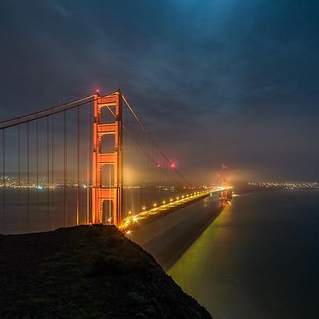 Moonlight over Golden Gate