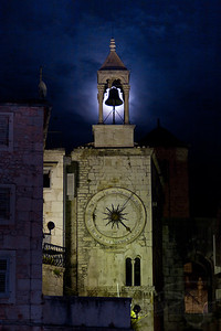 Western clock tower. Diocletian Palace. Split, Croatia