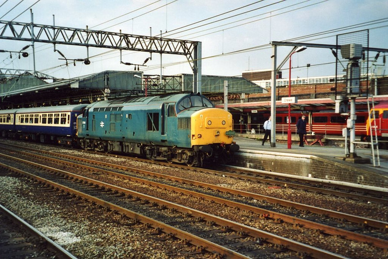 37308 at Crewe with a charter from Preston. April 2003.