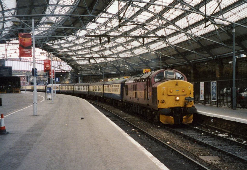 37427 arriving at Liverpool Lime Street on a charter from Birmingham. February 2005.