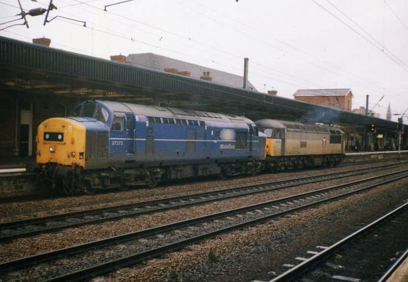 37372 and 56033, Doncaster. October 1999.